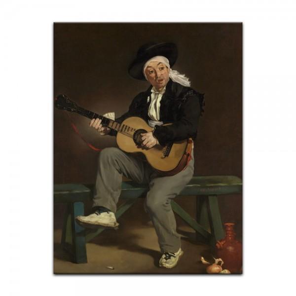 Leinwandbild - Édouard Manet - Der spanische Sänger