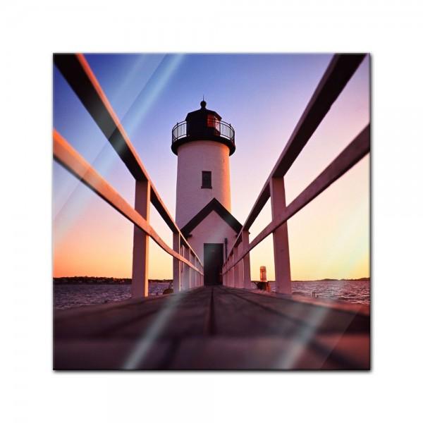 Glasbild - Leuchtturm
