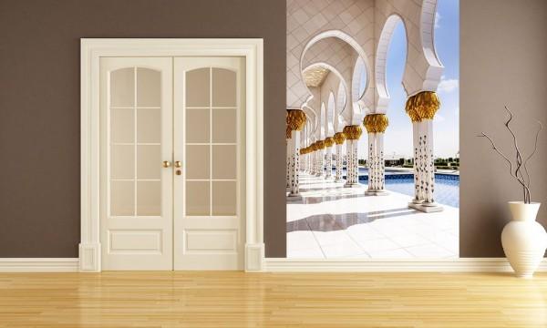 Fototapete Scheich-Zayid-Moschee in Abu Dhabi - Vereinigten Arabischen Emirate