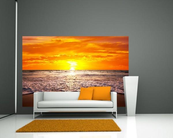 Fototapete Strand Sonnenuntergang I