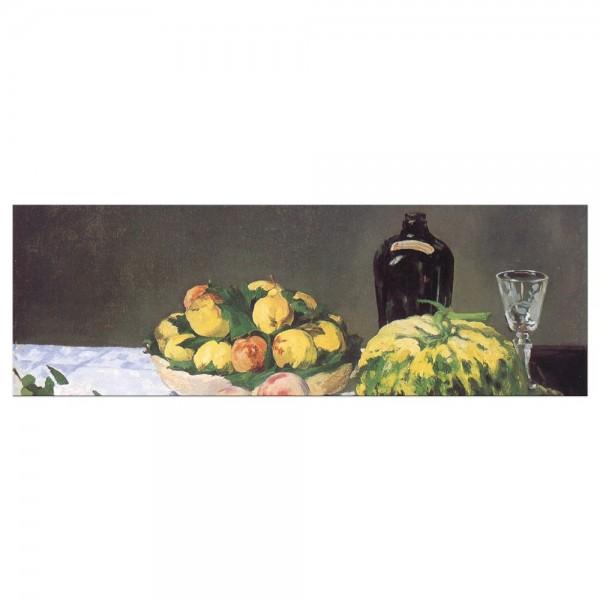 Leinwandbild - Édouard Manet - Stillleben mit Melone und Pfirsichen