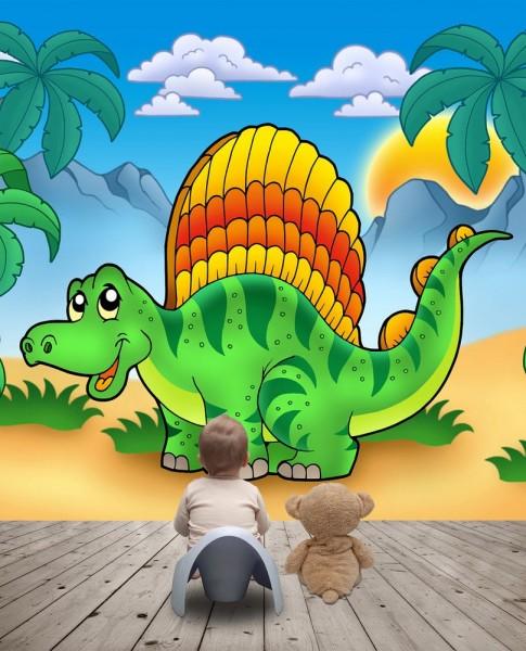 Fototapete Kindertapete - Kleiner Dinosaurier