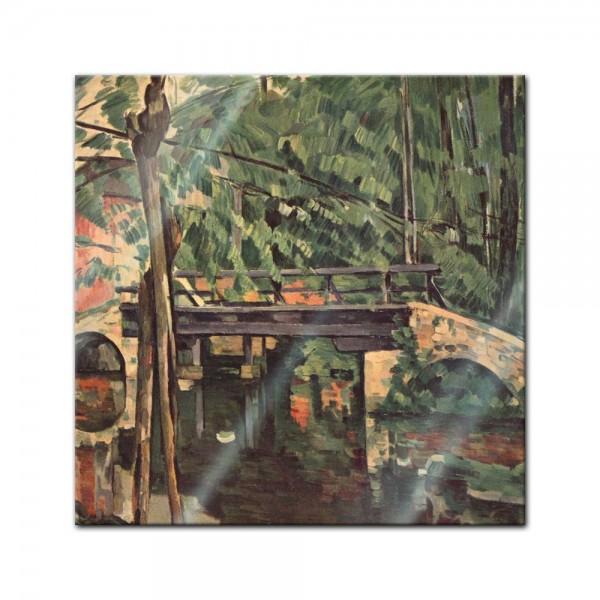 Glasbild Paul Cézanne - Alte Meister - Die Brücke von Maincy -
