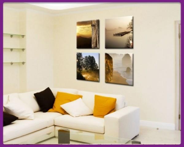 Leinwandbild Set 4 teilig Landschaften