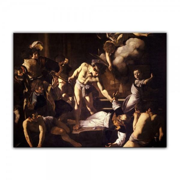 Leinwandbild - Caravaggio - Martyrium des heiligen Matthäus