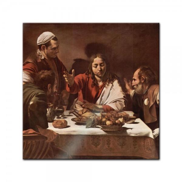 Glasbild Caravaggio - Alte Meister - Das Abendmahl in Emmaus