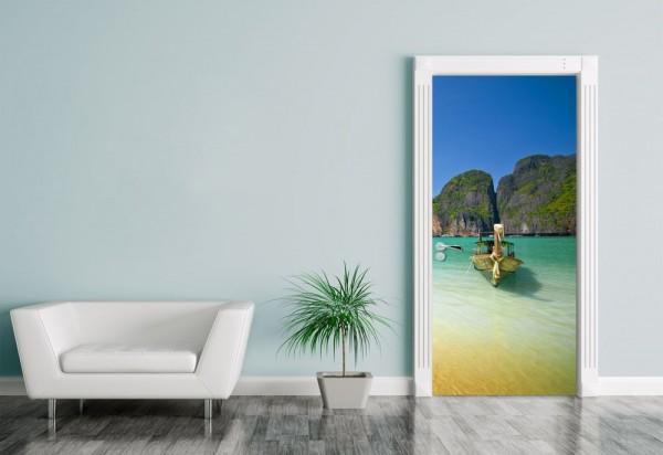 Türaufkleber Tropical Beach in Ko Phi-Phi Ley island -Tailand