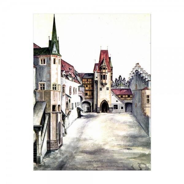 Leinwandbild - Albrecht Dürer - Der Hof der Burg zu Innsbruck