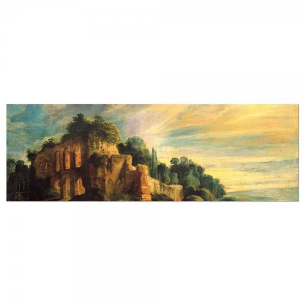 Leinwandbild - Peter Paul Rubens - Landschaft mit den Ruinen des Hügels Palatin in Rom