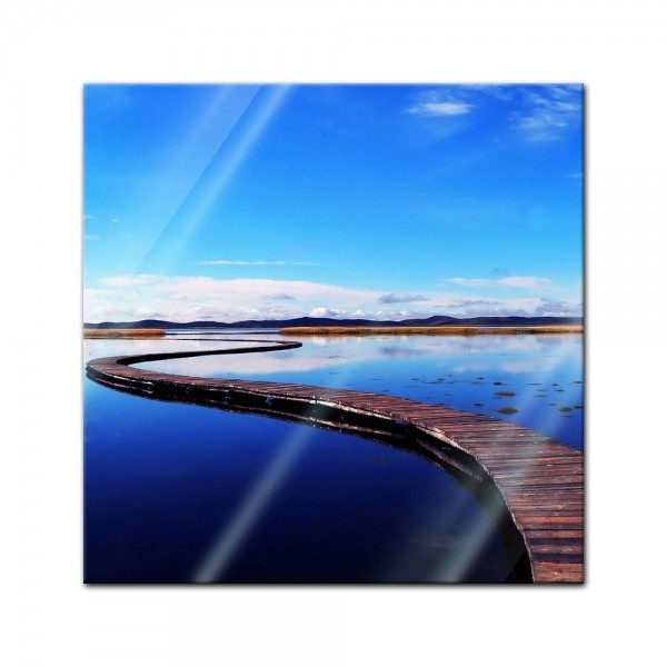 Glasbild - Peaceful lake