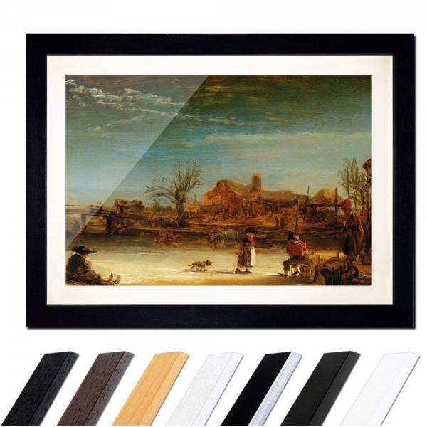 Rembrandt - Winterlandschaft