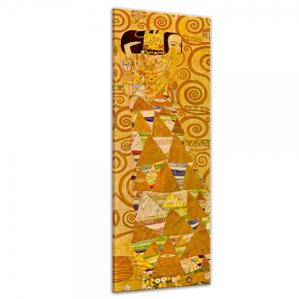 SALE Leinwandbild - Gustav Klimt Die Erwartung - 50x160 cm