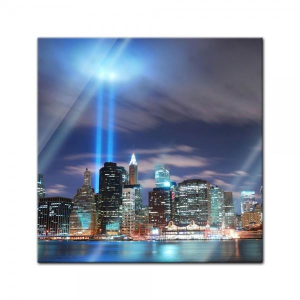 Glasbild - New York City Manhattan at night - USA