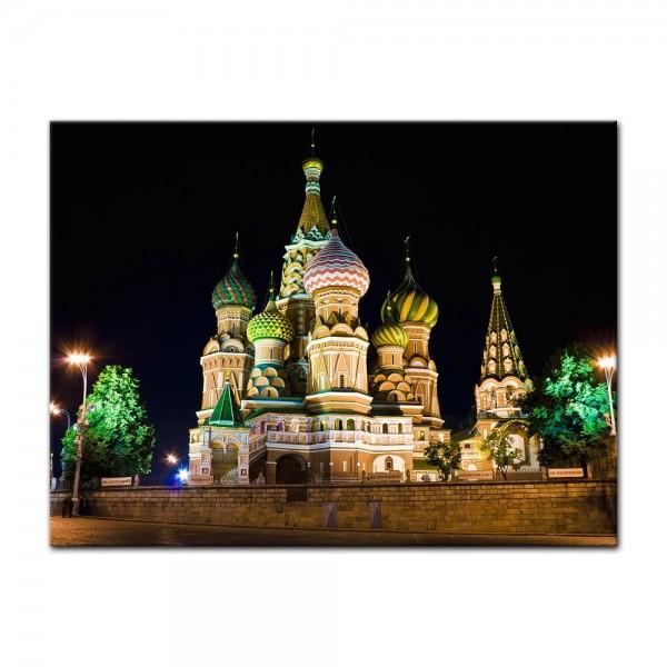 Leinwandbild - Basilius Kathedrale in Moskau - Russland