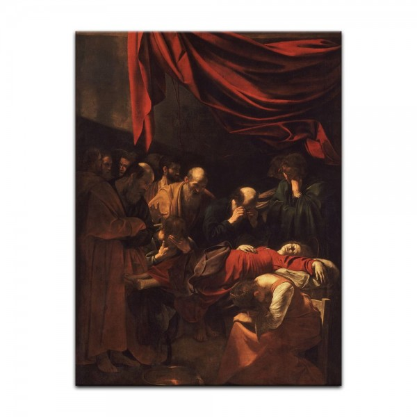 Leinwandbild - Caravaggio - Der Tod der Jungfrau Maria