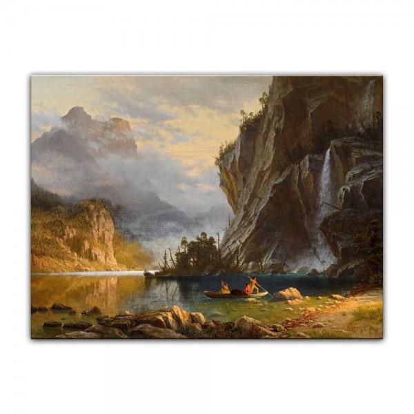 Leinwandbild - Albert Bierstadt - Indians Spear Fishing