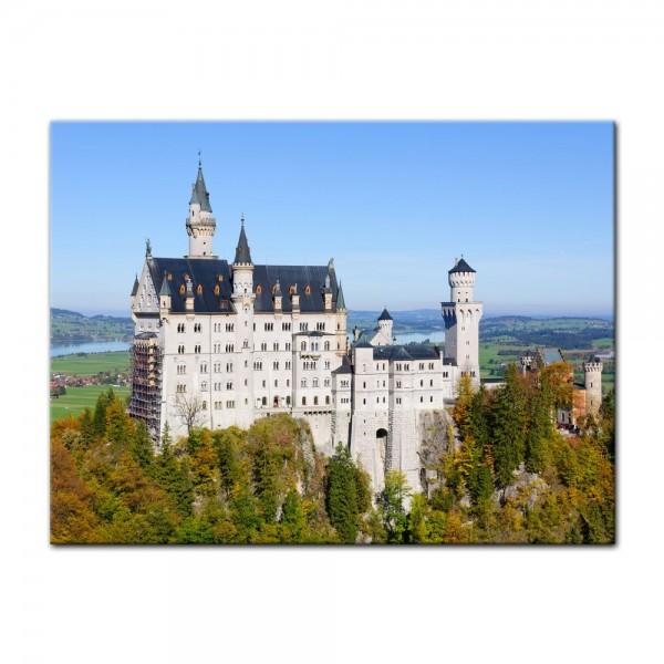Leinwandbild - Schloss Neuschwanstein - Deutschland