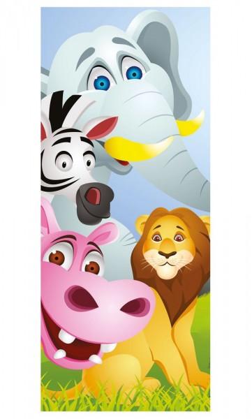 Türaufkleber - Kinderbild Tiere Cartoon V