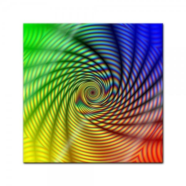 Glasbild - Regenbogenspirale abstrakt