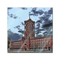 Glasbild - Rote Rathaus