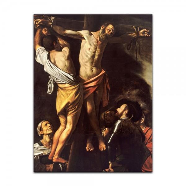 Leinwandbild - Caravaggio - Die Kreuzigung des heiligen Andreas
