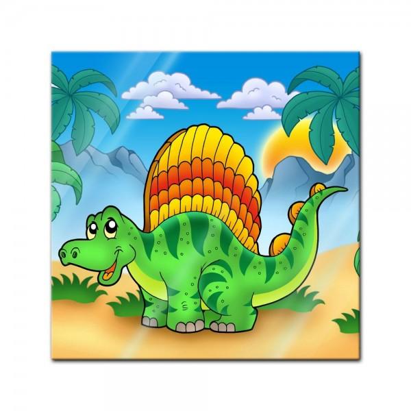 Glasbild - Kleiner Dinosaurier