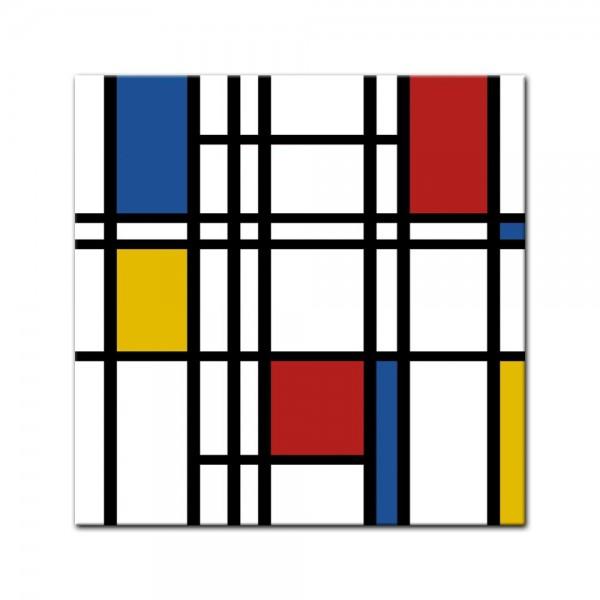 Leinwandbild - Mondrian retro