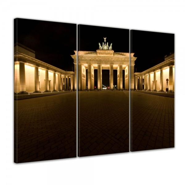 SALE Leinwandbild - Brandenburger Tor - Berlin - 90x60 cm 3tlg