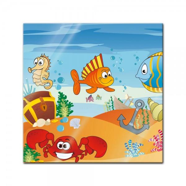 Glasbild - Kinderbild Unterwasser Tiere VII