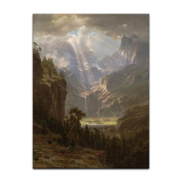 Leinwandbild - Albert Bierstadt - Rocky Mountains, Lander's Peak