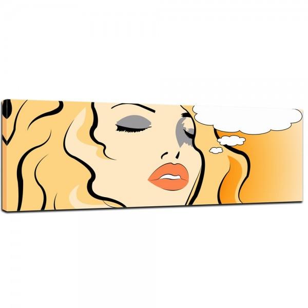 SALE Leinwandbild - Pop Art Woman - 160x50 cm