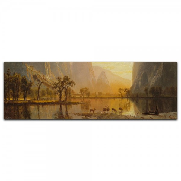 Leinwandbild - Albert Bierstadt - Valley of the Yosemite