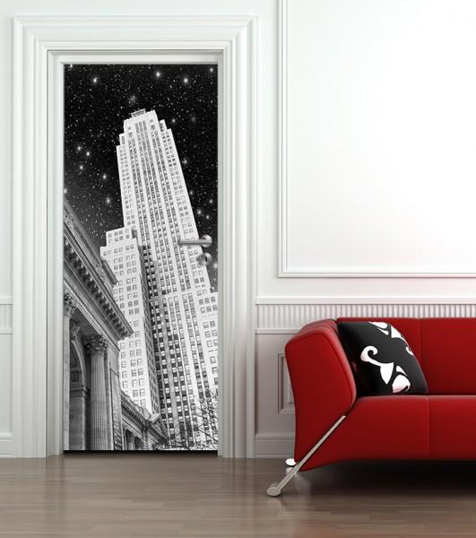 Türaufkleber New York in der Nacht