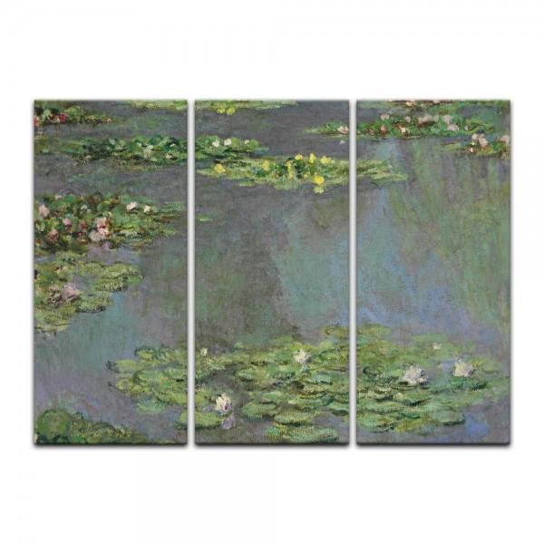 Leinwandbild - Claude Monet - Seerosenteich