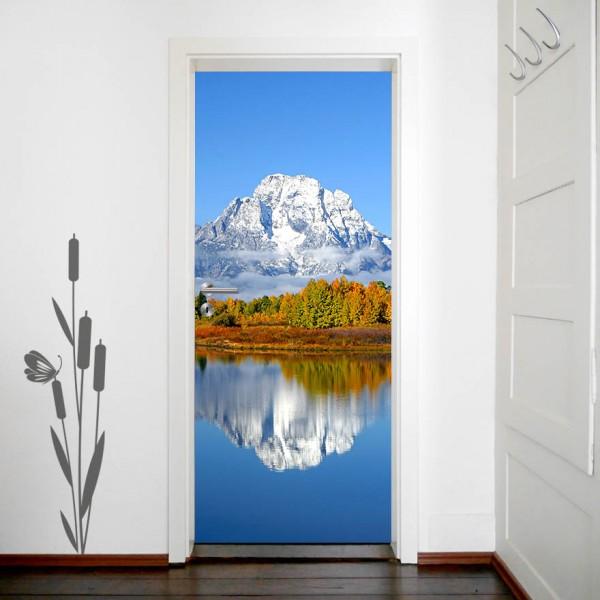 Türaufkleber - Berg Herbst