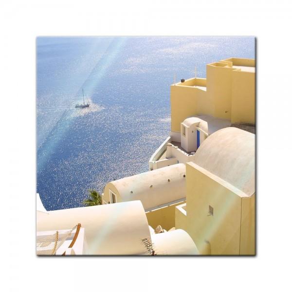 Glasbild - Santorini - Griechenland III