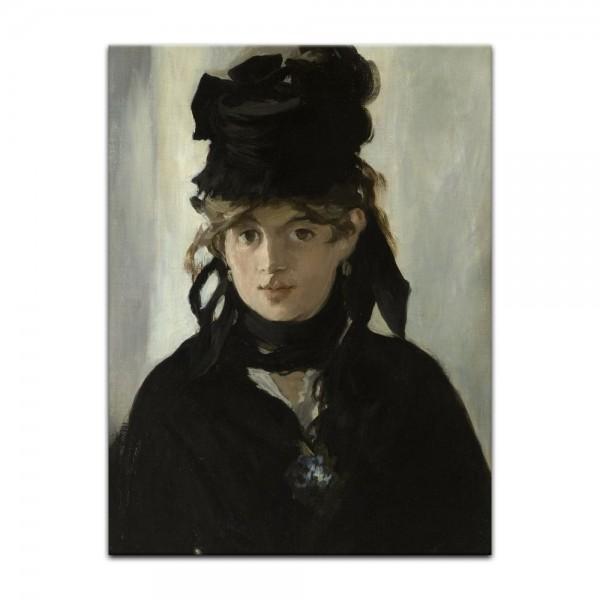 Leinwandbild - Édouard Manet - Berthe Morisot mit Veilchenstrauß