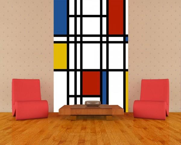 Fototapete - Mondrian retro