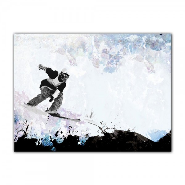 Leinwandbild - Grungy Snowboarder