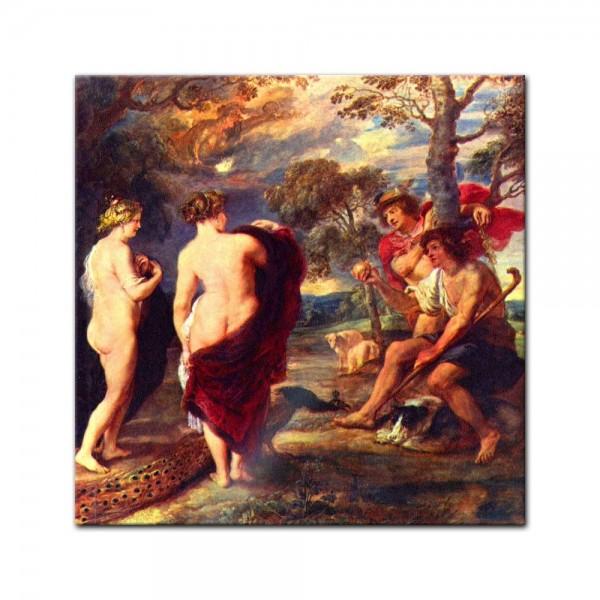 Glasbild Peter Paul Rubens - Alte Meister - Urteil des Paris