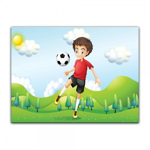 Leinwandbild - Kinderbild - Kicker II Cartoon