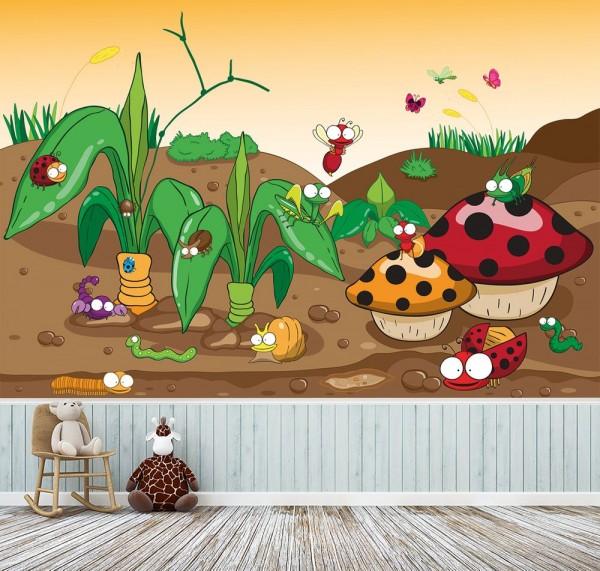 selbstklebende Fototapete - Kinderbild - Krabbeltiere II Cartoon