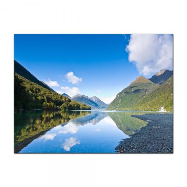 Leinwandbild - Lake Gunn - Neuseeland