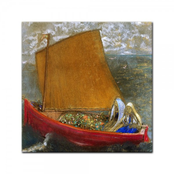 Leinwandbild - Odilon Redon - Gelbes Segel