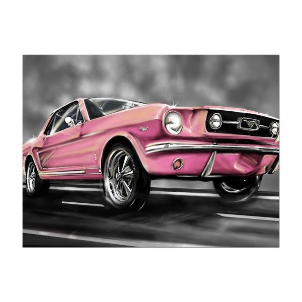Leinwandbild - Mustang Graphic - rosa