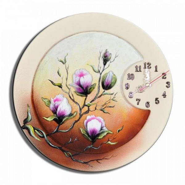 Wanduhr Blumen K 01