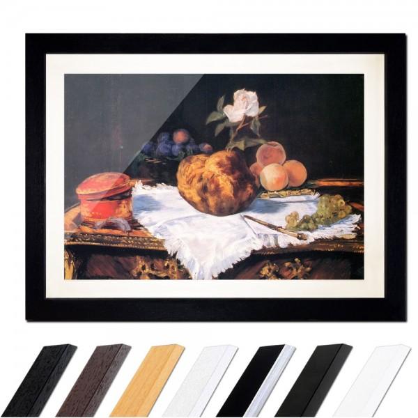 Édouard Manet - Stillleben mit Brioche