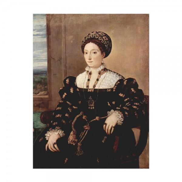 Leinwandbild - Tizian - Porträt der Eleonora Gonzaga della Rovere