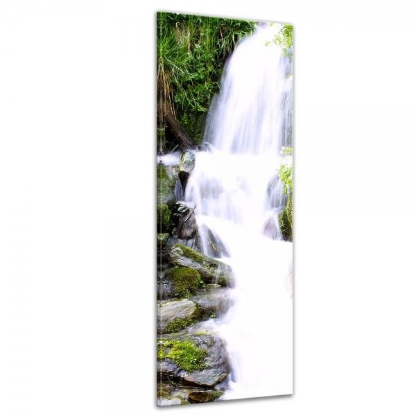 SALE Leinwandbild - Kleiner Wasserfall - 50x160 cm - farbig