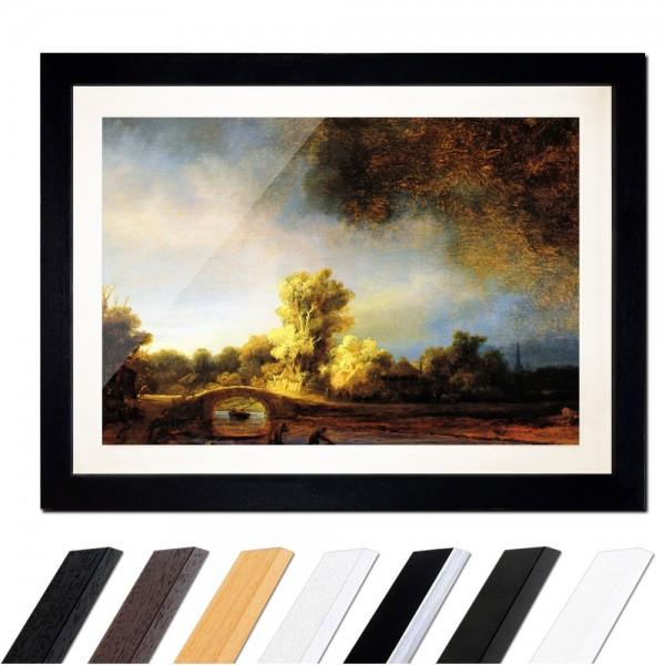 Rembrandt - Landschaft mit Steinbrücke